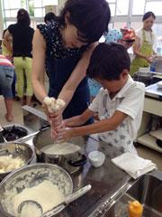 大豆から作る手作り豆腐教室3